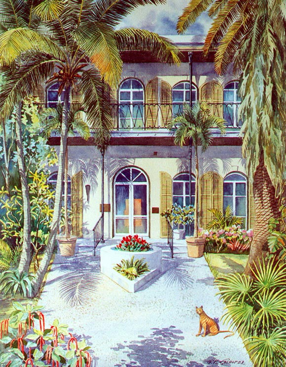 Artist house key west hemingway house in key west art by for King s fish house long beach ca